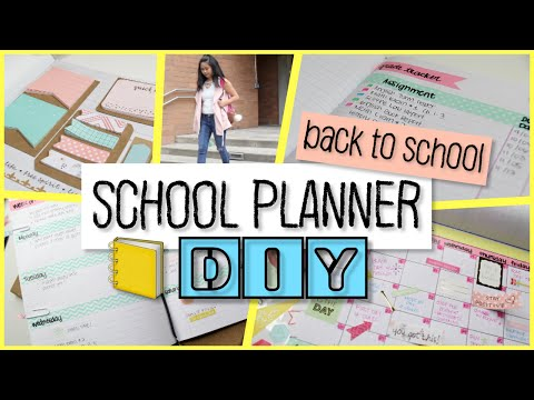 School Notebook Planner DIY | Easy and Cheap