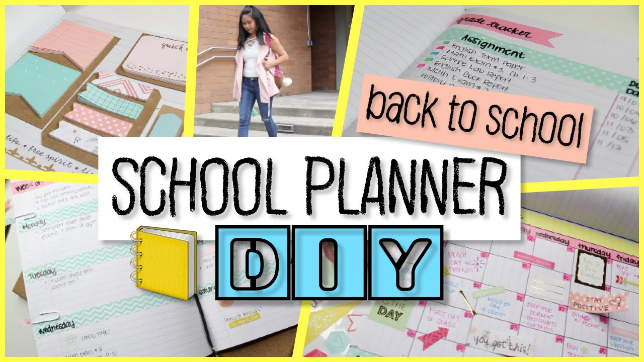 school notebook planner diy easy and cheap youtube