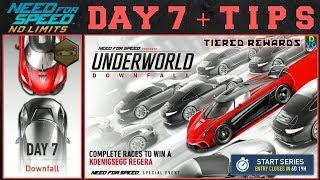 NFS No Limits | Underworld: Downfall - Koenigsegg Regera | Day 7 - Winning + TIPS