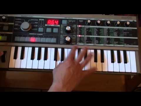 Microkorg Demo - Retro synth sounds