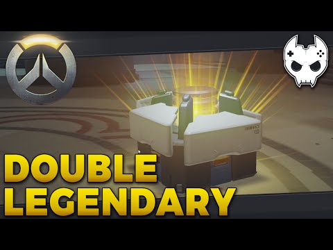 Overwatch Loot Box Opening - DOUBLE LEGENDARY - E3 Closed Beta