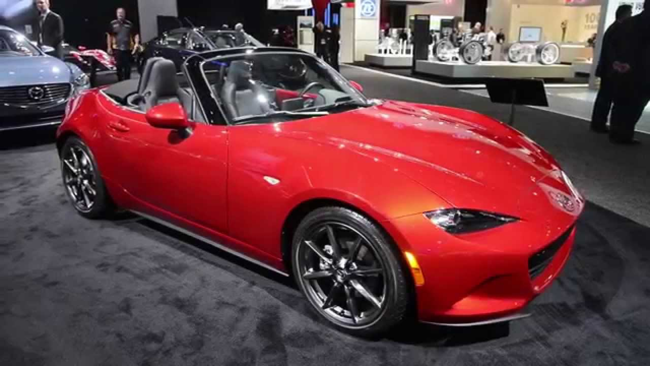 Mazda Mx3 2016 >> 2016 Mazda MX-5 Miata Walkaround - NAIAS 2015 - YouTube