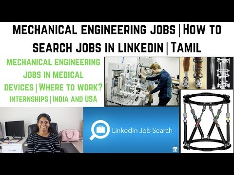 Mechanical Engineering Jobs In USA And India | How To Search  Job In Linkedin | Internships | Tamil