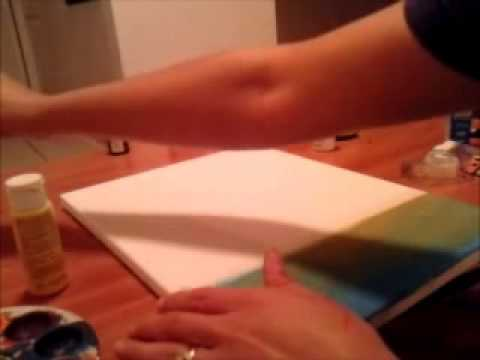 The 5 Pieces African Sunset Painting By Angelica (Time Lapse)