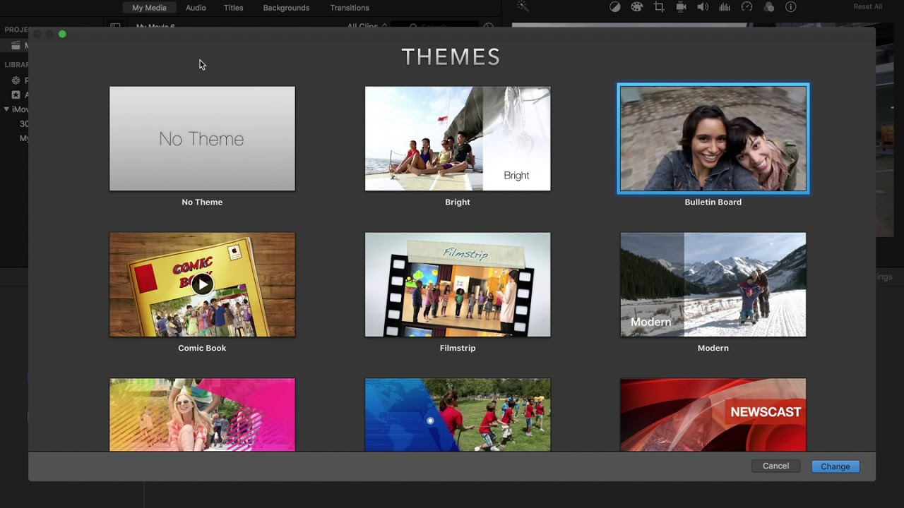 Imovie How To Use Theme Template 2018 Youtube
