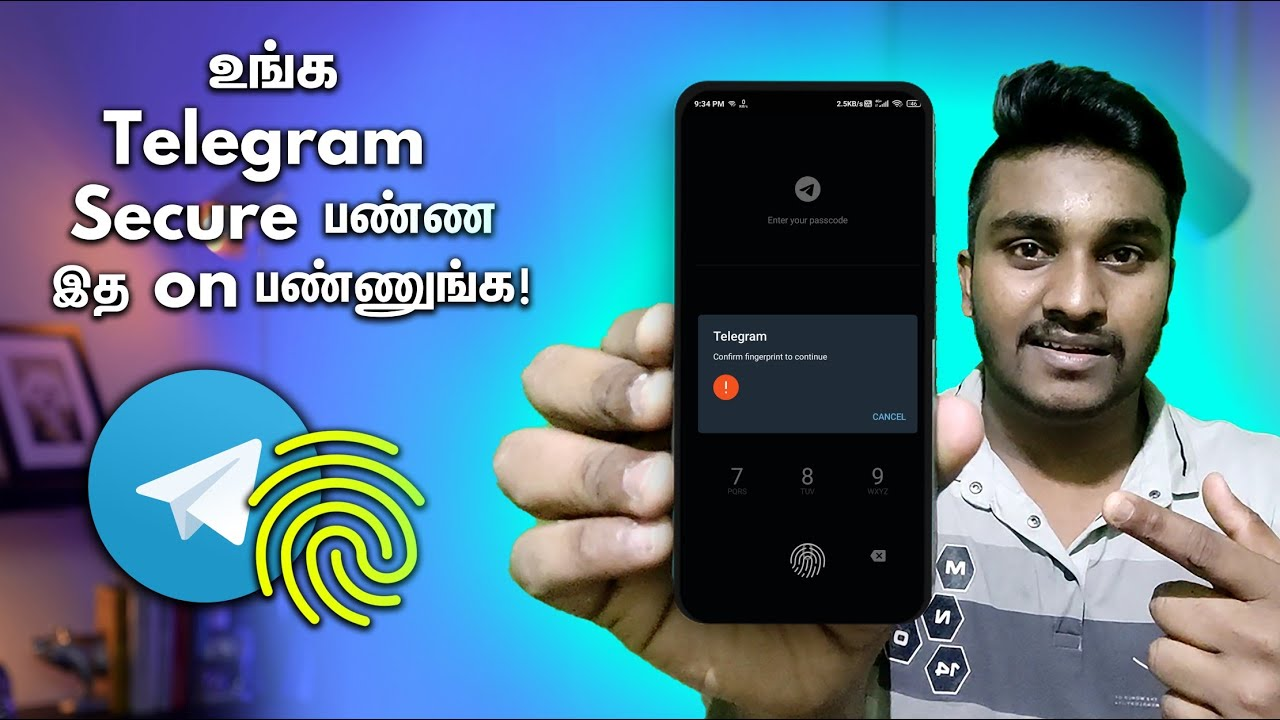 Download How to Set Passcode lock In Telegram App Tamil 2021!