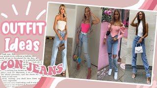 Outfits Con Jeans 2020 2021 Pantalones De Mezclilla Denim Vaqueros Moda Primavera Verano Mujer Youtube
