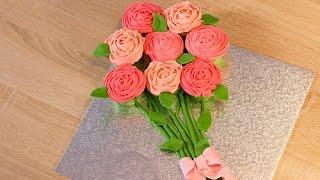 Faire des cupcakes en forme de rose - Bouquet de cupcakes