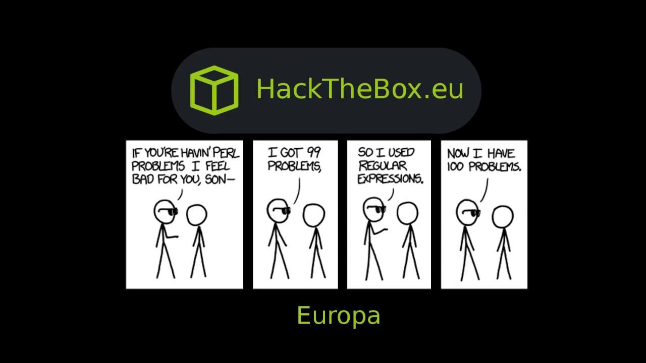 HackTheBox - Europa by IppSec