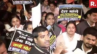 Youth Congress Workers Protests On Rafale Deal In New Delhi | #ModiWinsOnRafale