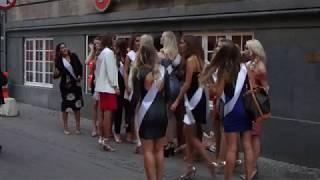 Miss Denmark 2018 finalists photo-op, Fiolstræde, Copenhagen August 18, 2018