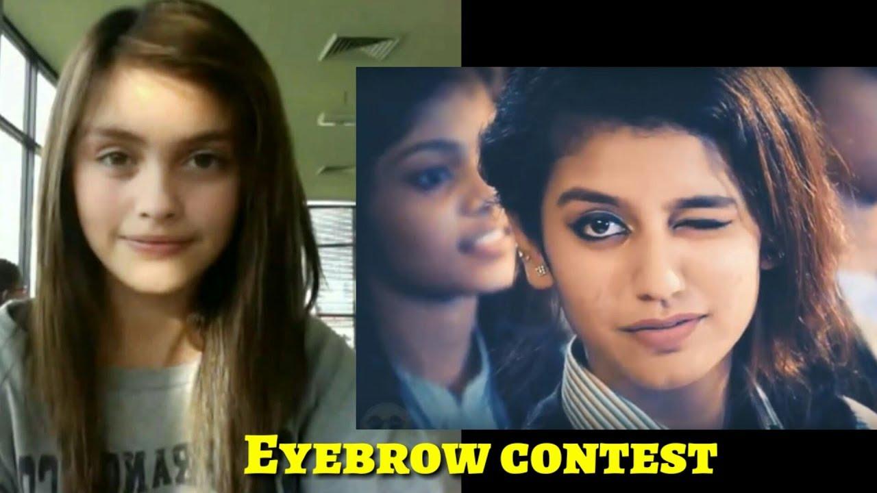 Priya Prakash Varrier Vs Sarah Ellen Eyebrow Dance 2018 Youtube