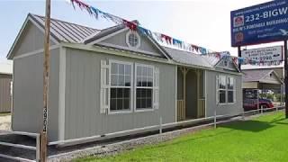 New Derksen 12x40 Side Cabin At Big W's Portable Buildings In Lafayette, Louisiana