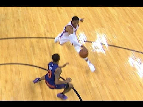 Russell Westbrook SICK Shammgod and Pass for 22nd Assist | 12.17.16