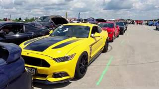 Ford Mustang sprinty 2019 - Letiště Tchořovice (Mustang Riders Club)