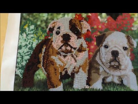 Вышивка бисером собак схемы