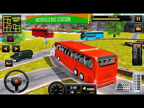 Coach Bus Driving Simulator - City Mobile Bus Transporter Drive - Android GamePlay