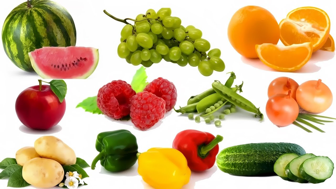 Learn Names of Fruits and Vegetables   Kids learning ...