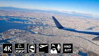 [4K圧倒的関東平野] ディズニーランド上空旋回  JAL201便 羽田空港34R離陸 thumbnail