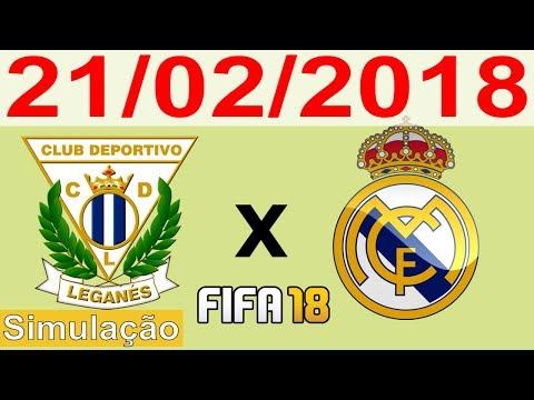 LEGANÉS X REAL MADRID 21/02/2018 - La Liga - Campeonato Espanhol - Simulação FIFA 18