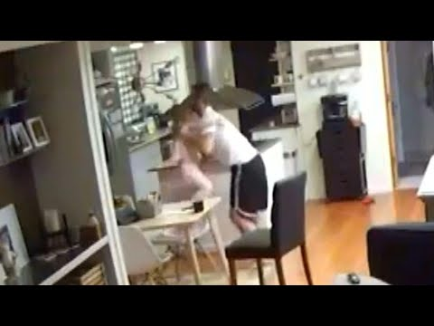 Dad Grabs Daughter During Alaska Earthquake