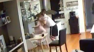 Dad Grabs Daughter During Alaska Earthquake