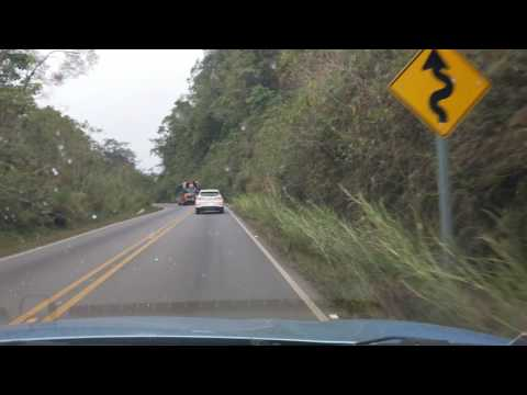 Driving Hwy 2 at 10,633' elevation, near Villa Mills, Costa Rica, 2017-02-08