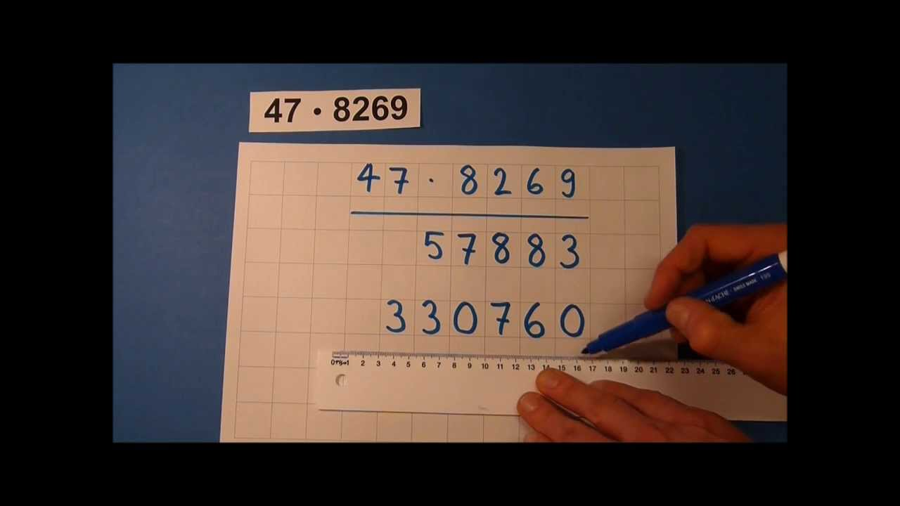 Tutorial: Schriftliche Multiplikation (mit zweistelligen Zahlen ...