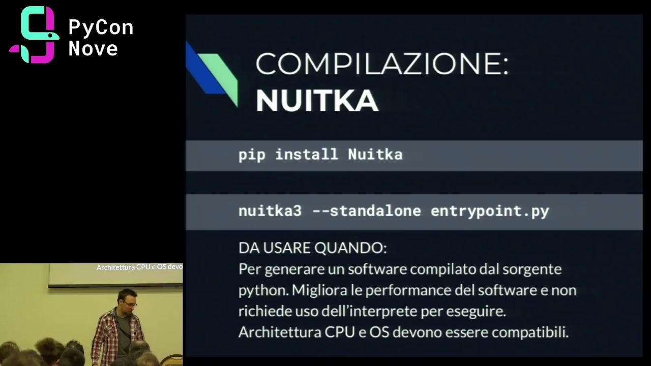 Image from Pacchettizzare applicazioni python in un singolo file binario
