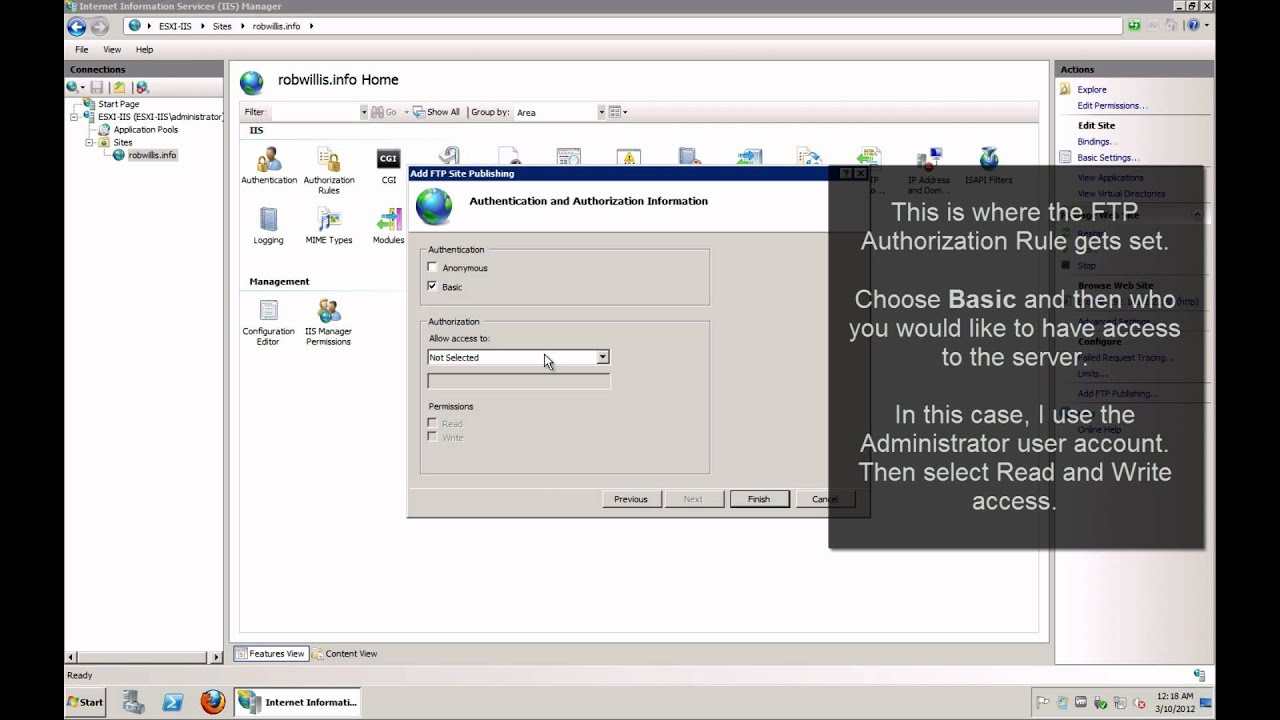 How To Windows Server 2008 Iis 7 Part 2 Secure Ftp Setup Youtube