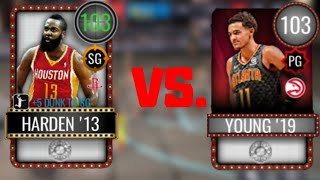3 POINT CONTEST: 103 TRAE YOUNG VS 103 JAMES HARDEN IN NBA LIVE MOBILE 20 GAMEPLAY!!!!