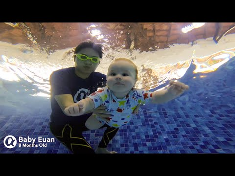 8 Months Old Baby Swimming - Happy Fish Euan