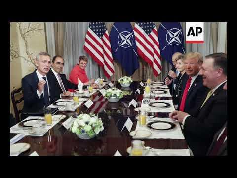 STILLS of Trump and Stoltenberg during testy breakfast meeting