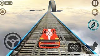 Impossible Stunt Car Tracks 3D: Red Car Driving Stunts Levels 4 & 8 - Android GamePlay 2019 screenshot 1