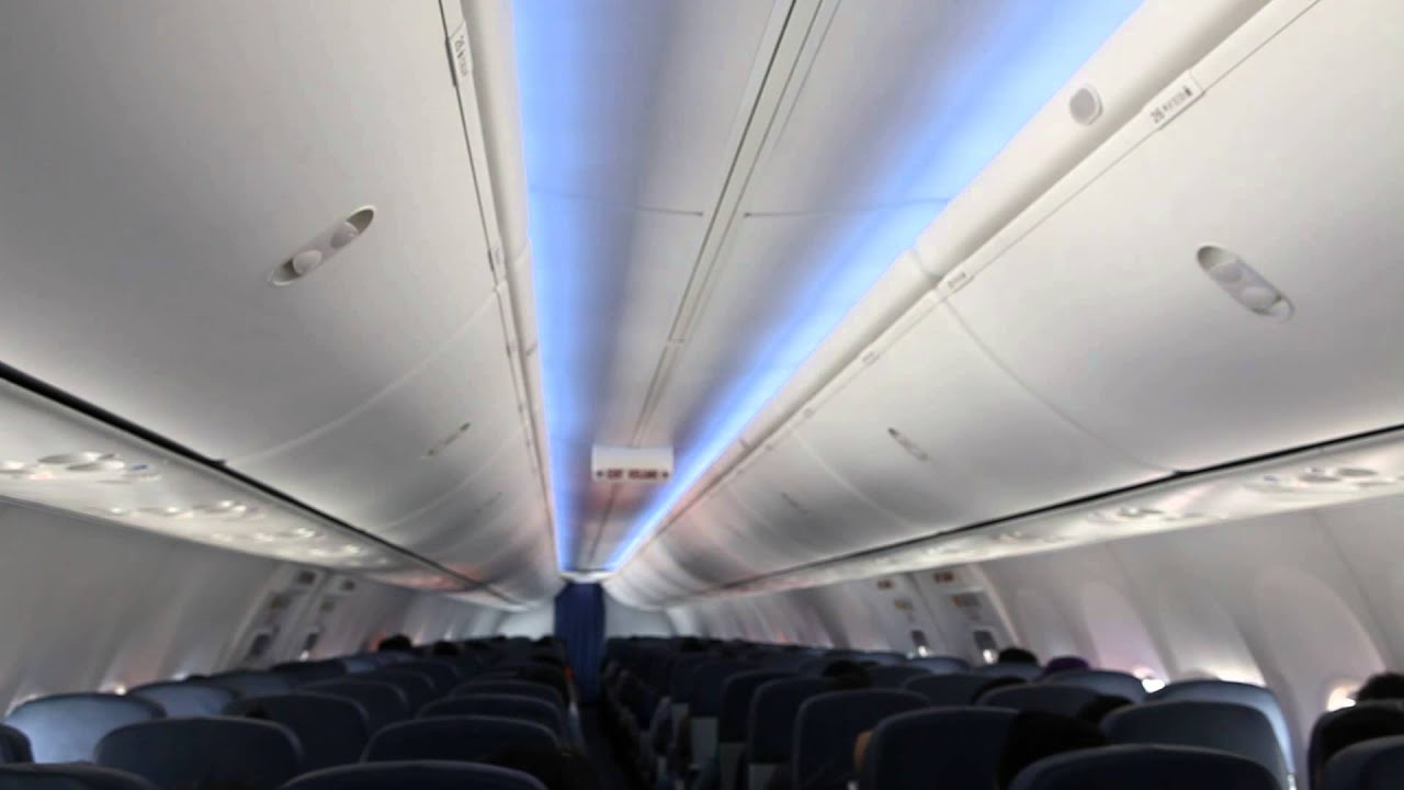 Sky Interior Cabin of Lion Air Boeing 737-900ER - YouTube