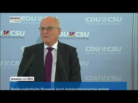Volker Kauder zur Wahl von Wolfgang Schäuble zum Bundestagspräsidenten am 17.10.17