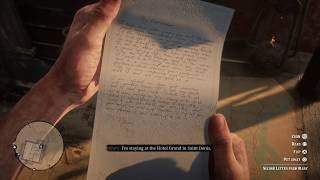 Red Dead Redemption 2 (PS4) - Mary's Second Letter (Don't Help Mary)