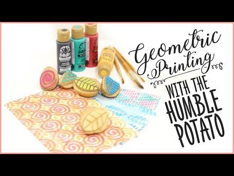 Geometric Printing with the Humble Potato