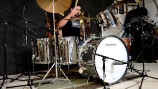 Led Zeppelin - Achilles Last Stand (Studio) w/o Music - Ludwig Stainless Steel