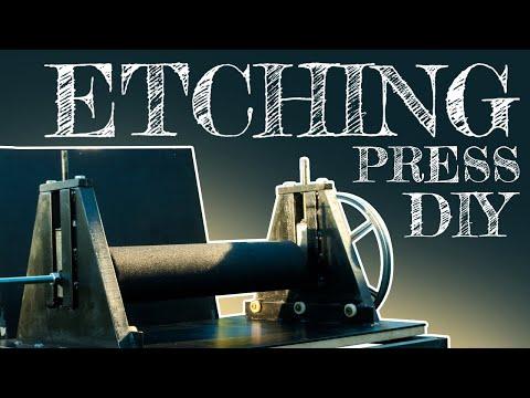Etching press DIY