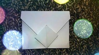 DIY Как сделать конвертик  из бумаги для личного дневника
