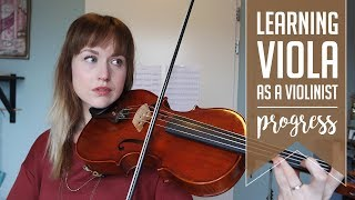 Learning viola as a violinist | 4 months progress video