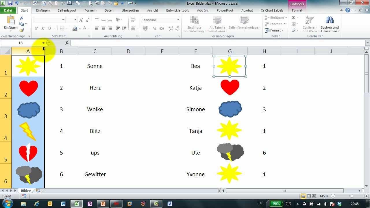 Excel # 308 - Bilder dynamisch einfügen - Teil 1 - YouTube