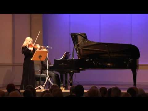 Gudrun Schaumann & Anthony Spiri play Joseph Joachim Romance C major 1852 for violin &piano