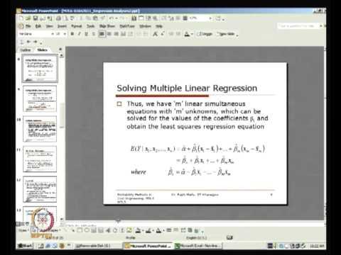 NPTEL :: Civil Engineering - Probability Methods in Civil