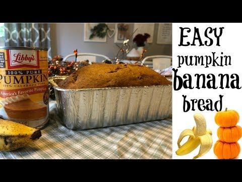 PUMPKIN BANANA BREAD RECIPE // BAKE WITH US!