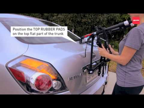 102dn Deluxe 2 Bike Trunk Rack Youtube