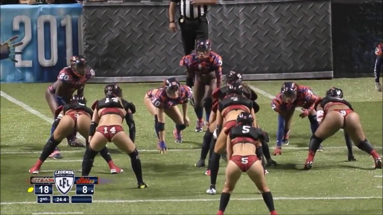 Sports girl in panties playing American football - YouTube 0bd206f5d