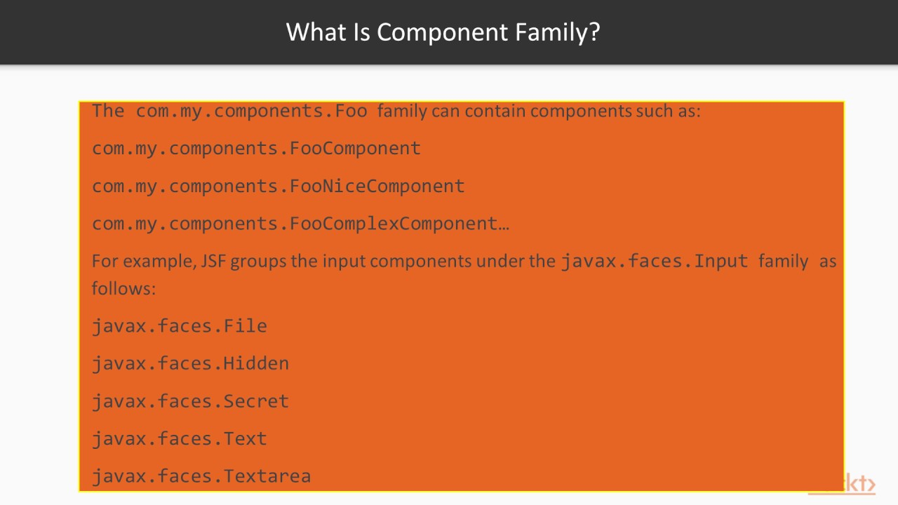 Diving into JSF API : What Are Component Type, Component Family, and  Renderer Type? | packtpub com