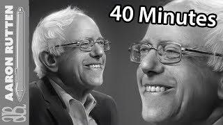 Realistic Portrait Painting Tutorial - Bernie Sanders (40 Minute Version with Narration)
